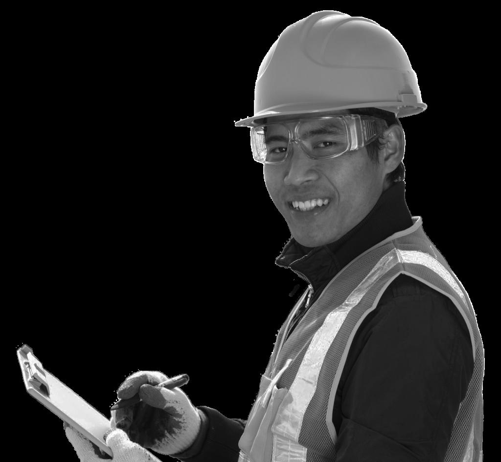 Worker in a hard hat
